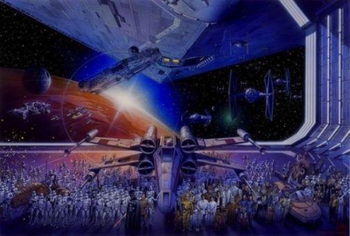 6 dessin star wars kitch