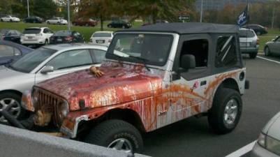 halloween voiture