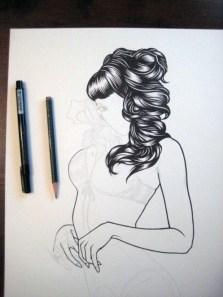 Adam Isaac Jackson dessin cheveux