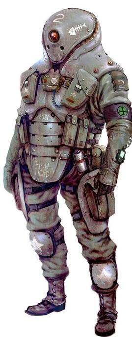 Wintermute armored suit