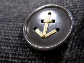 bouton ancre marine
