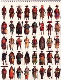 dessins guerriers africains