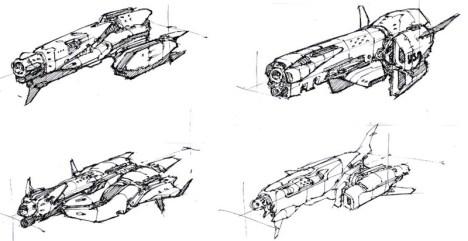 105-vaisseaux design concept dessin