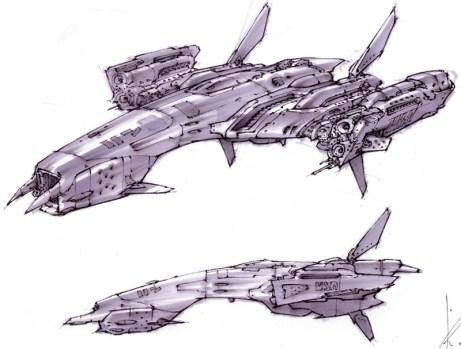 118-vaisseaux design concept dessin