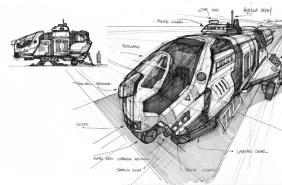 123-vaisseaux design concept dessin