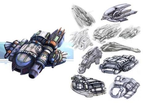 17-vaisseaux design concept dessin