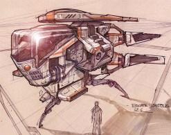 171-vaisseaux design concept dessin