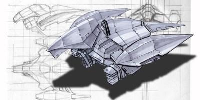 189-vaisseaux design concept dessin