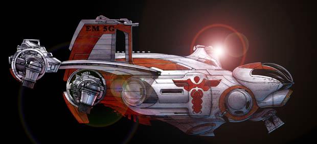 192-vaisseaux design concept dessin