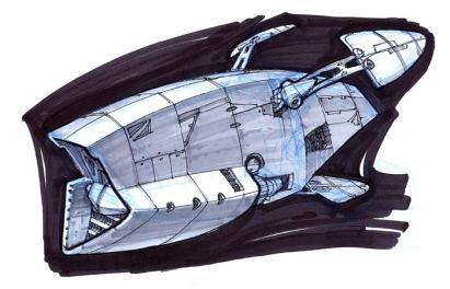 196-vaisseaux design concept dessin