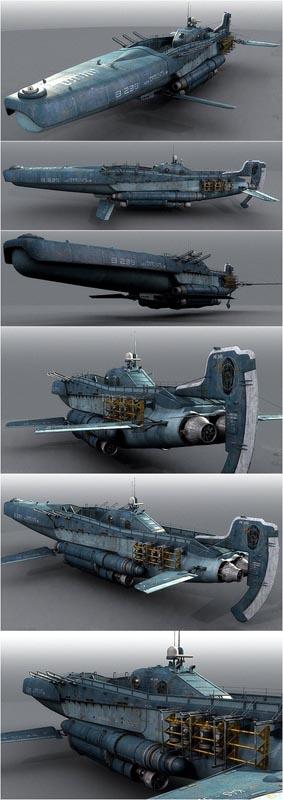 197-vaisseaux design concept dessin