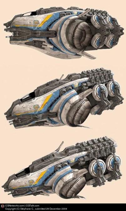 32-vaisseaux design concept dessin