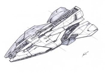 43-vaisseaux design concept dessin