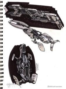 62-vaisseaux design concept dessin