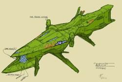 64-vaisseaux design concept dessin