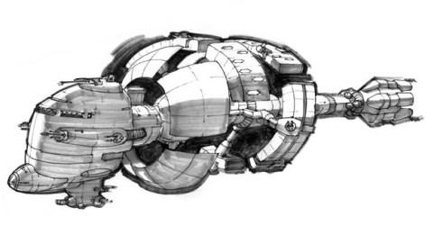 83-vaisseaux design concept dessin