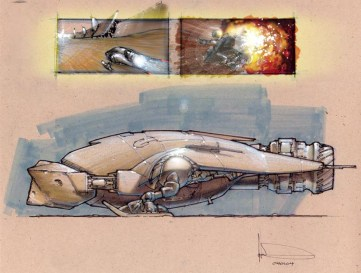 99-vaisseaux design concept dessin