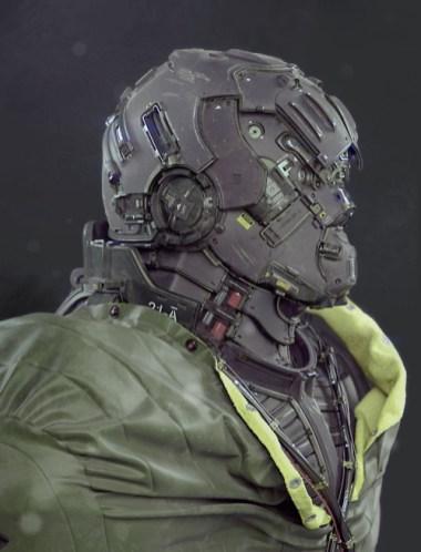 casque futur design 3d