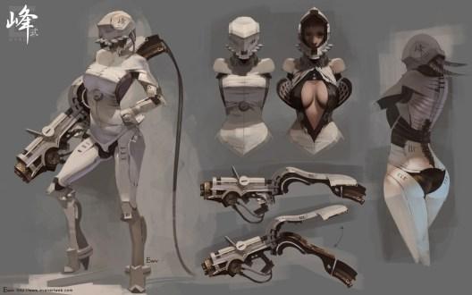 concept art soldier girl
