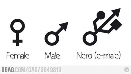 fille garcon geek