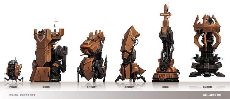 pieces echecs robots Chess_Set_par_Mr__Jack