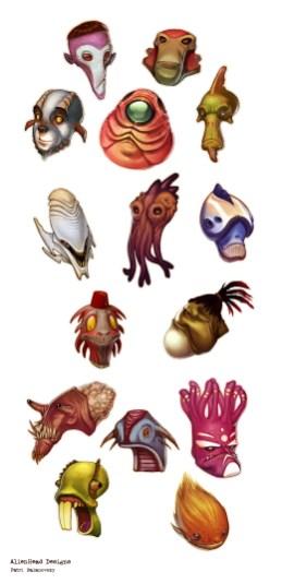 tetes AlienHead Designs par ChuckMate - Patri Balanovsky
