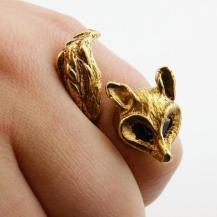 bague renard dore