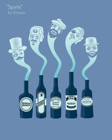 esprit alcool bouteille