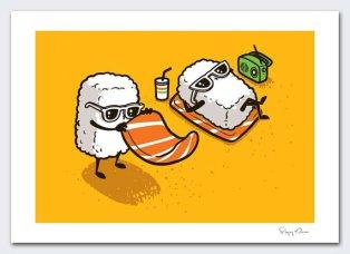 sushi a la plage