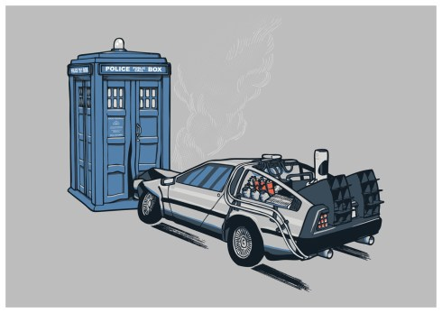 dr who delorean - Aled Lewis - It Came Out of Nowhere