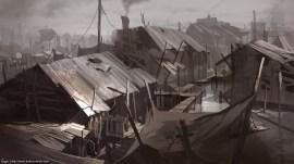 maisons sur la mer- The houses on the sea par EVANLEE82