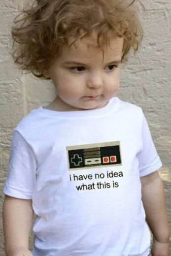 tshirt geek enfant nes pad
