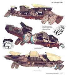 dessin barge flottante