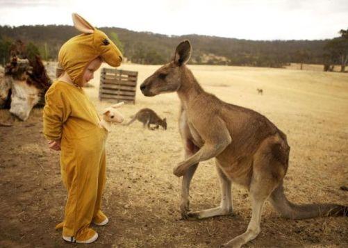 kangorou enfant costume