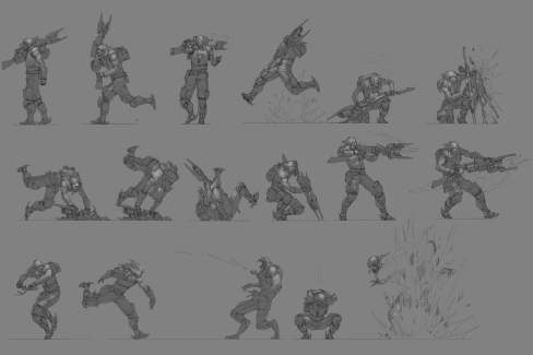 dessin design etude personnage