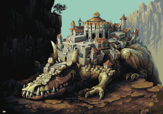 crocktown crocodile pixel art