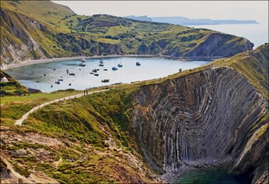lulworth cove cote jurassique