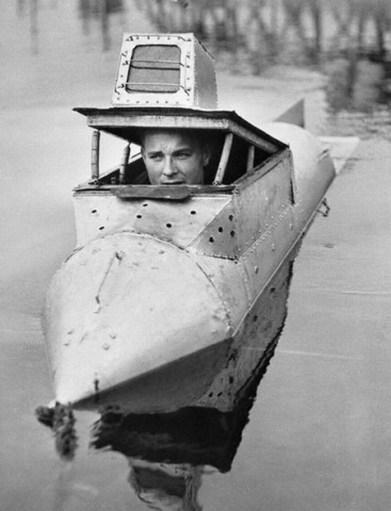 James Bolar Riding in Submarine
