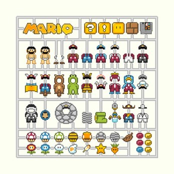 mario-kit pixel art