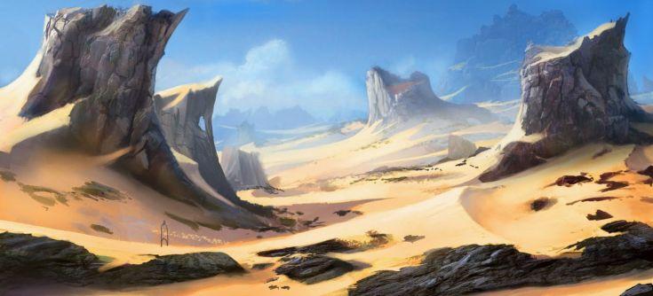 artwork desert pierres