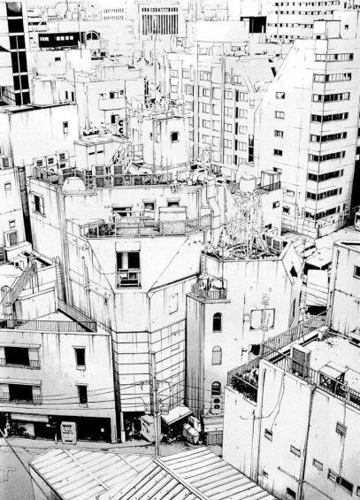 dessin ville japonaise