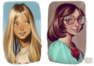 dessin filles