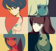 dessin filles visages