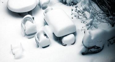 neige jardin
