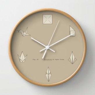 horloge cocotte papier