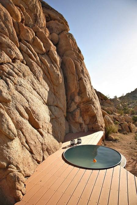 piscine rocher