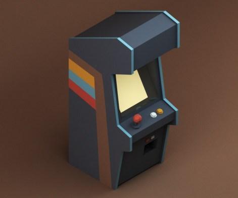 isometrique 3d borne arcade