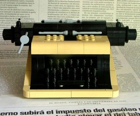lego machine a ecrire