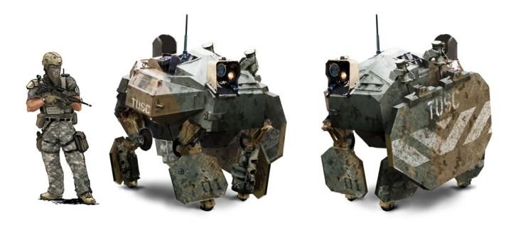 warhound concept soldats bot