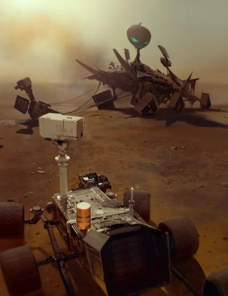 rover curiosity mars alien